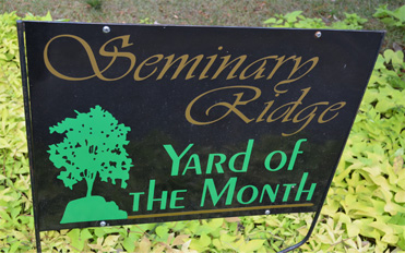 Seminary Ridge Neighborhood Yard of the Month