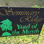 Yard of the Month Sign purchased with funds from Richland County Neighborhood Improvement Program grant awarded in 2011